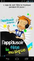 Screenshot of l'app du soir fête la musique
