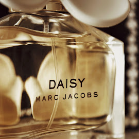 Daisy by Melinda Szente - Artistic Objects Other Objects ( earth tones, marc jacobs, advertising, daisy, yellow, close up, bokeh, scent, sweet, woman, container, perfume, glass, lady )