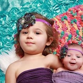 Happy baby sister by Kristen Livingston - Babies & Children Child Portraits