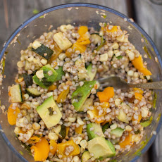 Roasted Zucchini, Corn, and Buckwheat Salad {Mountain Picnic}