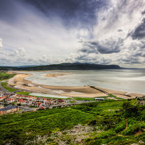 Low Tide by Mike Shields - Landscapes Beaches ( clouds, sand, bay, sea, low tide, beach, west shore, llandudno,  )