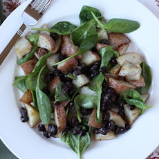 Black Bean, Potato and Spinach Hash