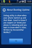 Screenshot of Bootlog Uptime