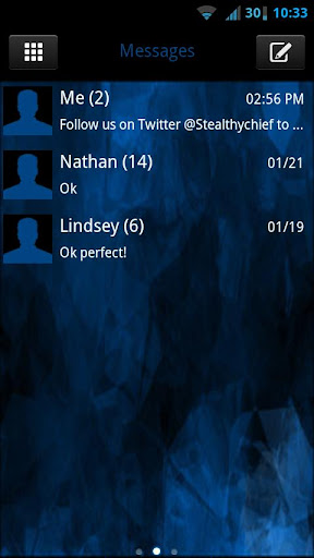 GO SMS Evil Blue Theme
