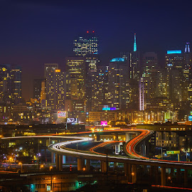 San Francisco  by Brock Slinger - City,  Street & Park  Skylines ( skyline, long exposure, san francisco,  )