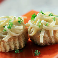 Linguini with Lemon Cream Sauce on Puff Pastry