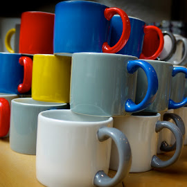 mugs by Adam Holst - Artistic Objects Cups, Plates & Utensils ( colors, food, drink )
