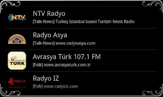 Screenshot of real Radio Turkey