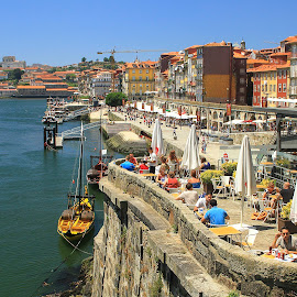 RIBEIRA DO PORTO by Guilherme  Junior - Buildings & Architecture Other Exteriors ( terrace, boats, buildings, cityscape, landscape, river )