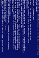 Screenshot of Blue Screen of Death - BSOD