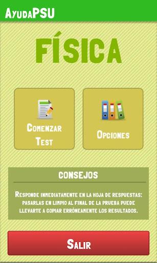 Ayuda PSU Física