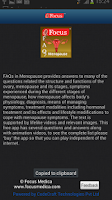 Screenshot of FAQs in Menopause