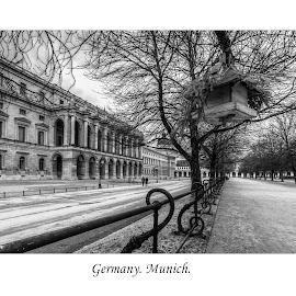 Munich. Residence of the Bavarian kurfyustov p  by Александр Науменко - Typography Captioned Photos ( famous, old, europe, cityscape, architecture, house, historic, city, center, munich, munchen, ancient, sky, bavaria, monument, germany, building, park, church, marienplatz, german, beautiful, tourism, landmark, urban, tower, touristic, european, blue, castle, cathedral, town, garden, bavarian )