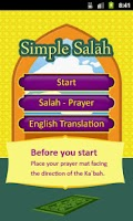 Screenshot of Simple Salah