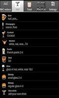 Screenshot of DrinkDroid BAC calculator