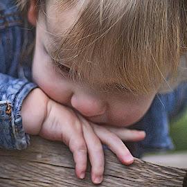 Em by Allen Crenshaw - Babies & Children Children Candids ( child, female, contemplation, outdoor, candid, photography, portrait )