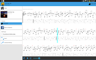 Screenshot of Guitar Tab Viewer
