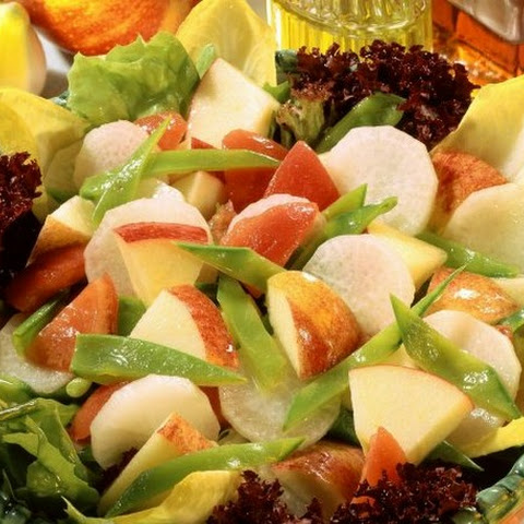 Apple and Radish Salad with Snow Peas