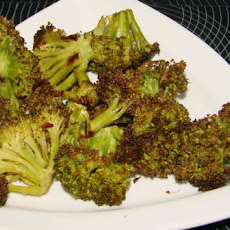Oven-Roasted Broccoli With Parmesan (Low Fat)