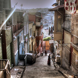 Street by Ozgur  Ozturk - City,  Street & Park  Neighborhoods ( street, road, sun )
