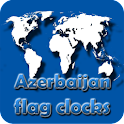 Azerbaijan flag clocks icon