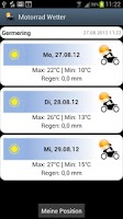 Screenshot of Motorcycle Weather Widget