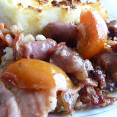 Sausage, Bacon and Tomato Cottage Pie