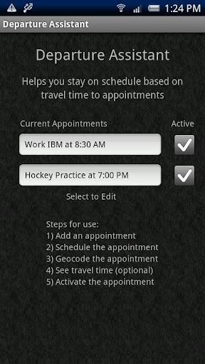 Departure Assistant