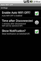 Screenshot of Auto WiFi OFF