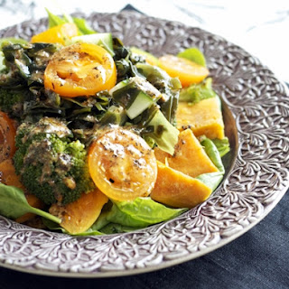Cucumber & Seaweed Salad with Steamed Vegetables