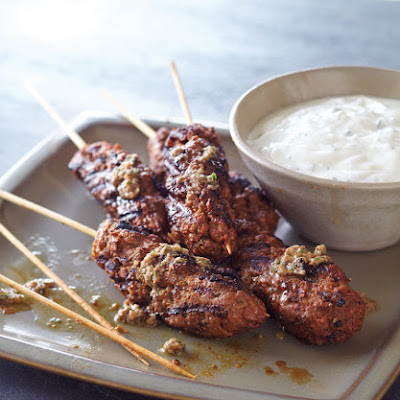 Lamb Kofta with Anchoiade and Mint Yogurt