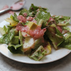Romaine Salad with Plum Ginger Dressing
