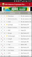Screenshot of EXAME Melhores&Maiores Ranking