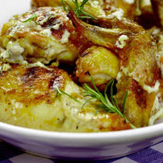 Grilled Chicken with Rosemary White Barbecue Sauce Recipe