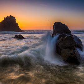 Rock by Francisco Machado - Landscapes Beaches ( praia da adraga, joel santos, sintra, workshop fotografia de natureza )