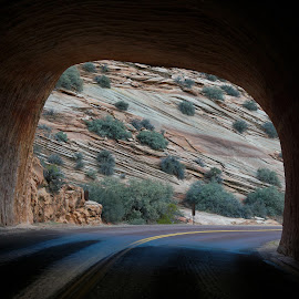 Tunnel by Victor Mirontschuk - Landscapes Travel ( tunne, national park, places, travel, rocks )