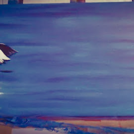 alfred's bird by Noele Hachach - Painting All Painting