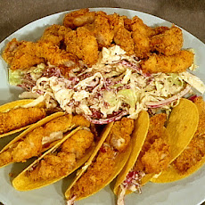 Fried Catfish Taco with Chipotle Slaw