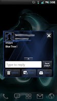 Screenshot of GO SMS Blue Tron Theme