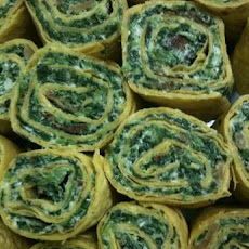 Easy Spinach-Bacon Tortilla Roll-Ups