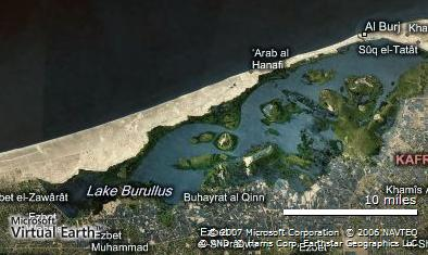Lake Al Burullus Arial Map