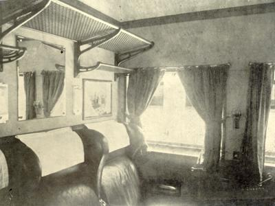 The first degree Lux Salon in Egyptian Railways in the past