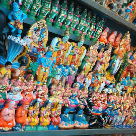 GOD's SHOP ! by Darshan Trivedi - Products & Objects Business Objects ( shop, god, colourful, idols, business,  )