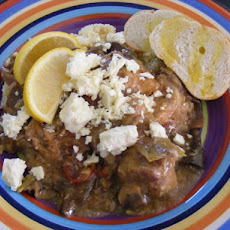 Greek Island Chicken With Marinated Artichokes
