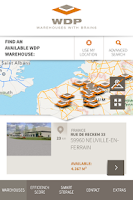 Screenshot of WDP - warehouses with brains
