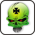 Skull IronCross doo-dad green icon