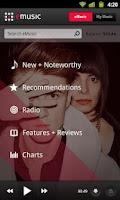 Screenshot of eMusic