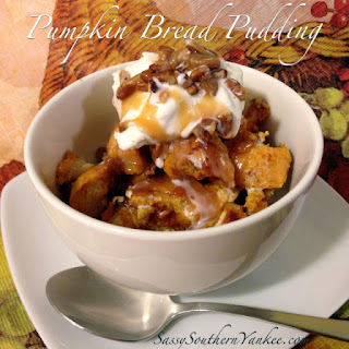 Warm Pumpkin Bread Pudding
