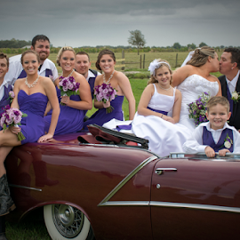 The wedding party by Joe Saladino - Wedding Groups ( wedding, group, bride, groom, country )