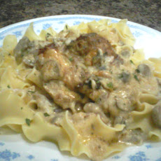 Creamy Mushrooms and Chicken